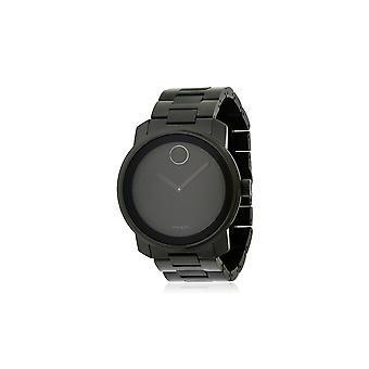 Movado vet zwart RVS Mens Watch 3600471