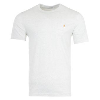 Farah Danny Organic Cotton Slim Fit T-Shirt - Chalk Marl
