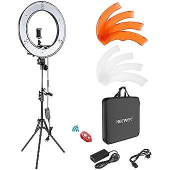 HanFei Kamera Foto Video Ringlicht Kit: 18 Zoll/48 Zentimeter Auen 52W 5500K dimmbare LED Ringlicht