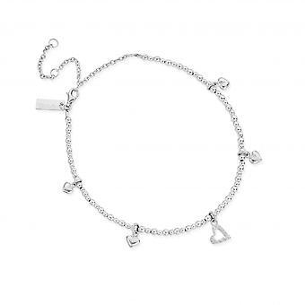 ChloBo Sterling Silver Mini Cute Multi Heart Anklet SANMC1199399
