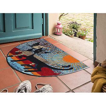 Rosina Wachtmeister Doormat I vederbörlig sulla riva 60 x 85 cm halvcirkelbar tvättbar smutsmatta