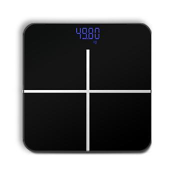 Bathroom Body  Scale LCD USB Charging(Black)