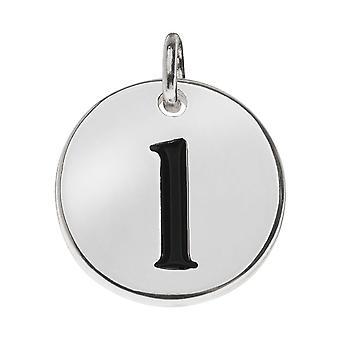 Vendita finale - Peltro senza piombo, fascino alfabeto rotondo Lettera minuscola 'l' 13mm, 1 pezzo, placcato argento