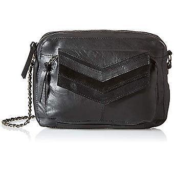 PIECES PCGINA Leather Large Cross Body FC, Women's Folder Bag, Black Details: Black Snow, keine Angabe