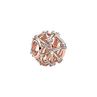 Pandora - Sternförmiger Anhänger, aus 14 Karat Roségold vergoldet, 12 x 12 x 9,8 mm (tiefe x Höhe x Ref. 5700302900200