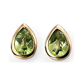 9 ct Gold And Peridot Earring