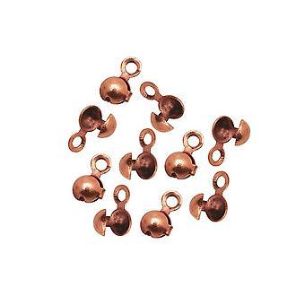 Connecteurs à chaîne à billes Nunn Design, pour chaîne à billes de 1,8 mm et 2,4 mm, 10 pièces, plaqué cuivre