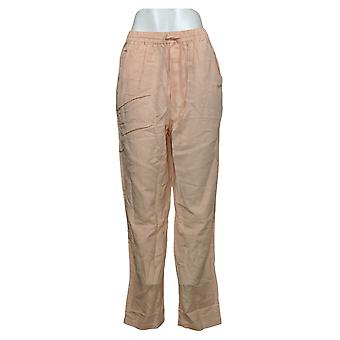 Sport Savvy Women's Pants Pull-On Drawstring Rayon Pink