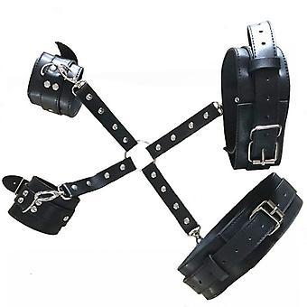 Unisex Corset Straps Metal Clip Leather Punk Hook Adjustable Handmade Garter