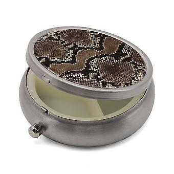 Pill Box with Snake Print - 50.19