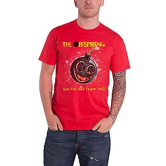 The Offspring T Shirt Hot Sauce Band Logo new Official Mens Red