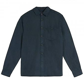 Ted Baker Brewin LS Relaxed Overshirt Navy Blauw