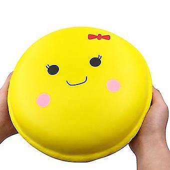24 * 24 * 10.5Cm الأصفر كعكة المعكرون المتضخم اسفنجي بطيئة انتعاش تخفيف الضغط اللعب ؟للأطفال، والكبار az8428
