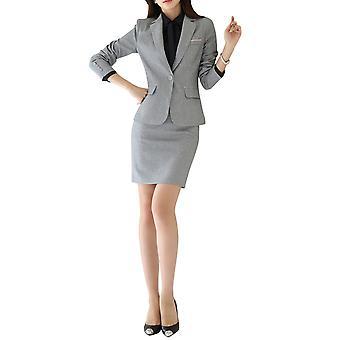 Allthemen Office Women's Business Formal Suit One Button Slim Suit Jacket & Skirt