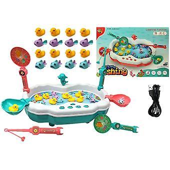 Børns legetøj fiskespil blå - Ællinger & fiskeri