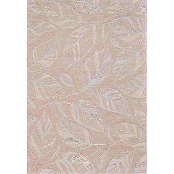 Newquay Leaf Flatweave Outdoor Rugs 96014 8002 Coral