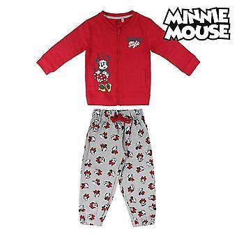 Detská tepláková súprava Minnie Mouse 74789 Červená