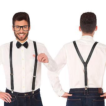 Costune accessorie Braces Bow tie Black