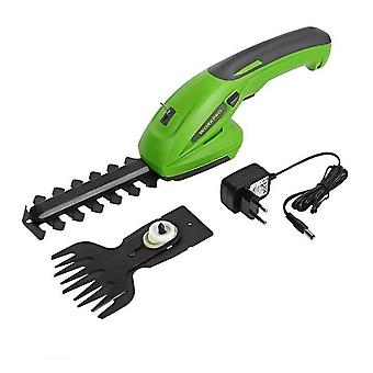 2-in-1 Electric Lithium-ion, Rechargeable Cordless, Garden Hedge Trimmer Tool