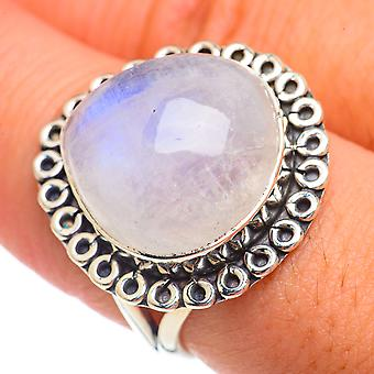 Rainbow Moonstone Ring Taille 8.25 (925 Sterling Silver) - Bijoux Boho Vintage faits à la main RING68701