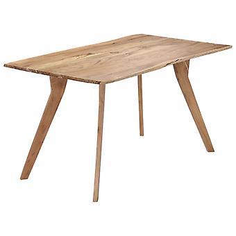 """שולחן אוכל vidaXL 140 x 80 x 76 ס""""מ שיטה מעץ מלא"""