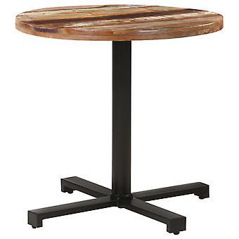"""שולחן ביסטרו vidaXL עגול Ø80x75 ס""""מ עץ ממוחזר מוצק"""