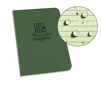 Rite In The Rain Memo Book, Side Bound Field Flex Cover 3.5 x 5 Inch - Green