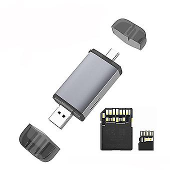 USB3.1 Multifunction UHS-II SD4.0 TF Card Reader Type-C USB Dual Interface Card Reader Support for