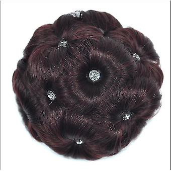 Nine Flowers Hignon Hair Clip In Hairpiece Extensions Bun Hairpin Wig