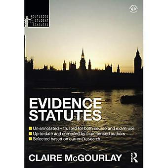 Evidence Statutes 2012-2013