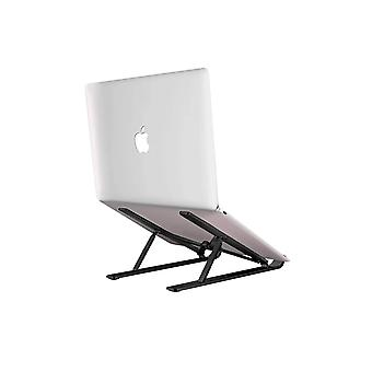 Desk Stand for Macbook Laptop Adjustable Height and Foldable Black