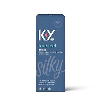 K-Y True Feel Premium Silicone Lubricant, Long Lasting and Non-irritating - 1.5 fl oz