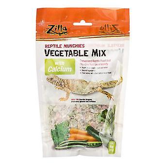 Zilla Reptile Munchies - Vegetable Mix with Calcium - 4 oz