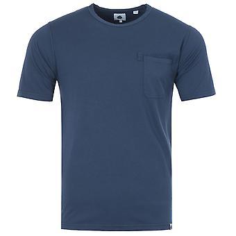 Pretty Green Military T-Shirt - Blue