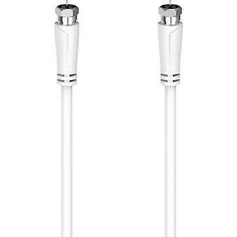 Hama Antennas, SAT Cable [1x F plug - 1x F plug] 5 m White