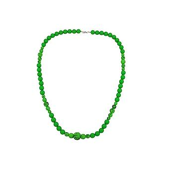 Necklace Green/black Beads 44795 44795 44795