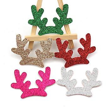 20buc Glitter Crăciun Coarne de cerb Shiny căptușite Appliques pentru haine ambarcațiunile de cusut consumabile Diy Hair Clip Accesorii