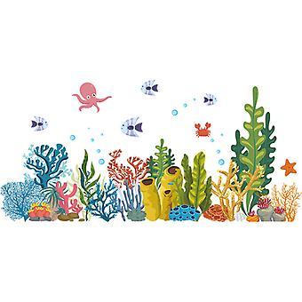 Marine Coral Fish Wall Stickers Decals Camera da letto Decor Wallpaper Mural