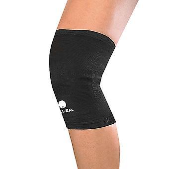 Manguito de soporte rodilla elástico ligero Mueller medicina deportiva - negro