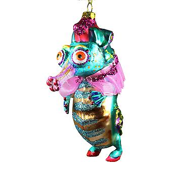 December Diamonds Little Miss Seahorse All Dolled Up Christmas Holiday Ornament