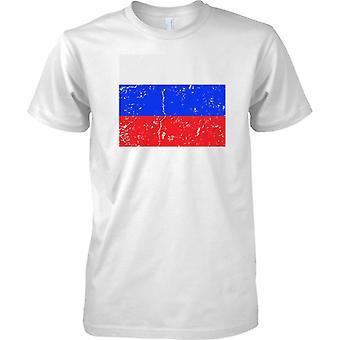 Ryssland Federation nödställda Grunge effekt flaggan Design - barn T Shirt