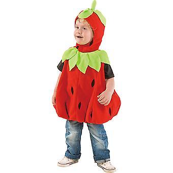 Bambino del bambino costume fragola fragola frutta