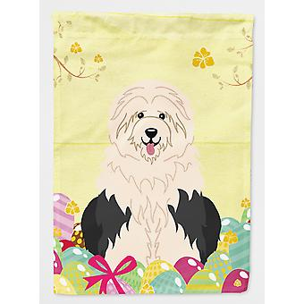 Carolines Treasures  BB6096GF Easter Eggs Old English Sheepdog Flag Garden Size