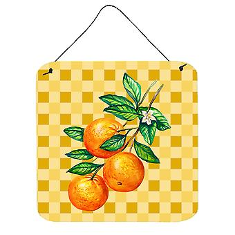 Oranges on Branch on Basketweave Wall or Door Hanging Prints