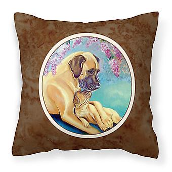 Carolines Treasures  7233PW1414 Great Dane and puppy Fabric Decorative Pillow