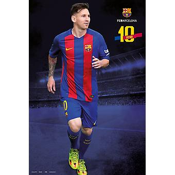FC Barcelona 20162017 Messi Pose Poster Plakat-Druck
