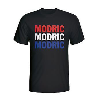 Luka Modric Croatia Player Flag T-shirt (black) - Kids