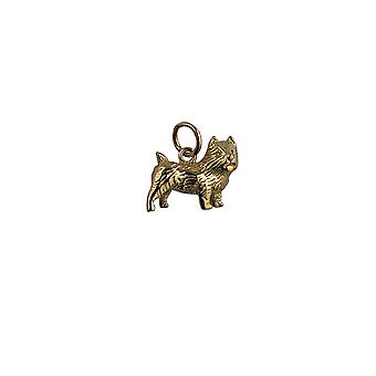 9ct Gold 16x13mm Cairn Terrier Pendant or Charm