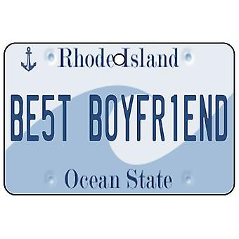 Rhode Island - Best Boyfriend License Plate Car Air Freshener