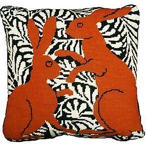 Brown boxe Hares Kit Tapisserie